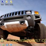 Descarga gratis el tema de coches Hummer para Windows 7