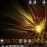 Descarga el tema oficial abstract dark  para Windows 7