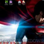 Descarga el fondo de escritorio Superman, man of steel para Windows 7