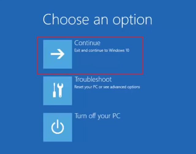Use un disco de instalación de Windows 10 o una unidad de disco USB de arranque 5