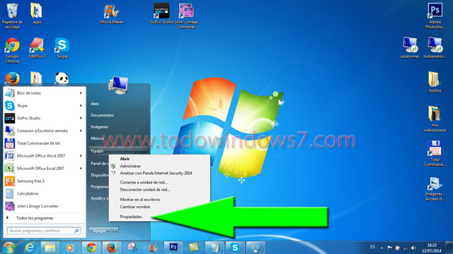 propiedades pc windows