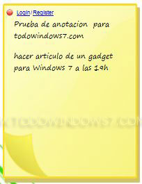 notas gadget windows 7