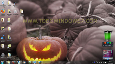 halloween otoño tema windows 7