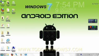 android windows7 tema wallpaper