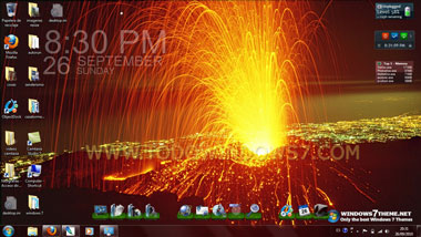 tema windows7 volcanes volcan