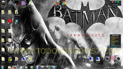 batman arkham city tema windows 7