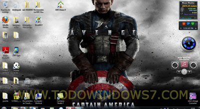 capitan america tema windows 7