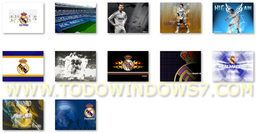 real madrid tema windows 7
