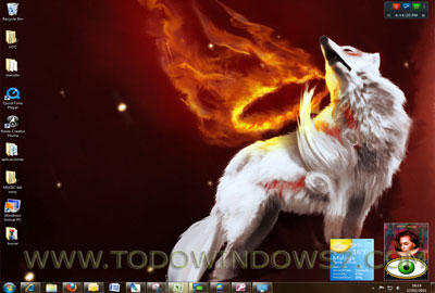 arte en llamas tema windows 7