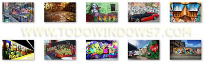graffiti tema windows 7