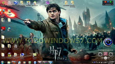 harry potter 7 tema windows 7