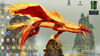 dragones tema windows 7