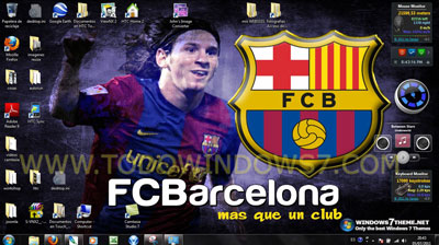 tema fc barcelona windows 7