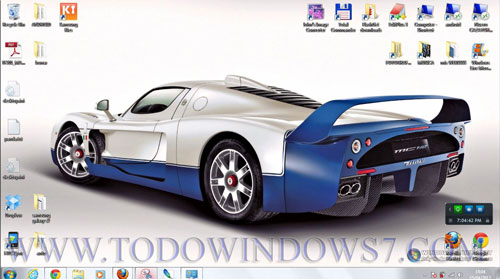 maserati mc12 tema windows7