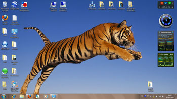 windows 7 tema theme tigre