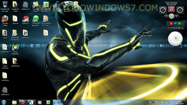 tron tema windows 7
