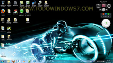 tron legacy tema windows 7