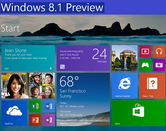 Microsoft lanza Windows Preview 8.1 para empresas