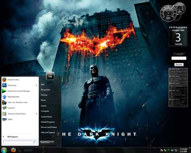 Tema para windows 7 Batman the dark knight