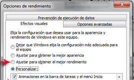 rendimiento windows 7