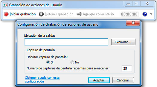 grabar pantalla Windows 7
